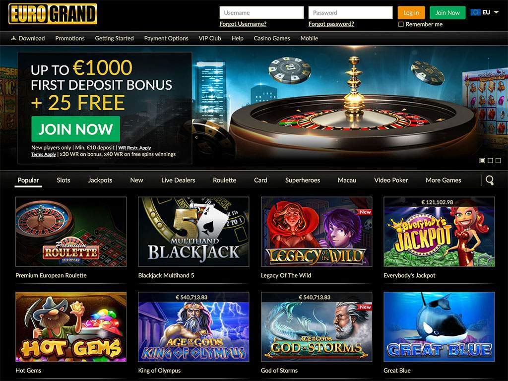 казино еврогранд играть бесплатно