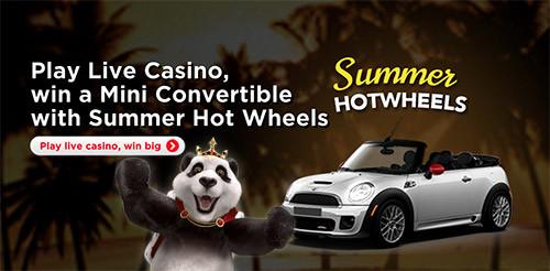 Win a mini cabrio at royal panda casino