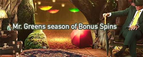 mr. green autumn free spins bonus