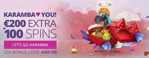 karamba valentine casino promotion