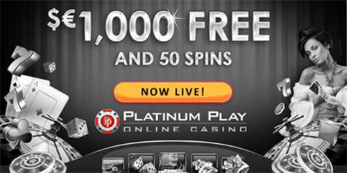 1000 euro welcome bonus plus 50 free spins at platinum play casino