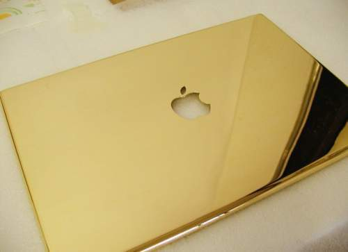macbook pro 24k carat gold