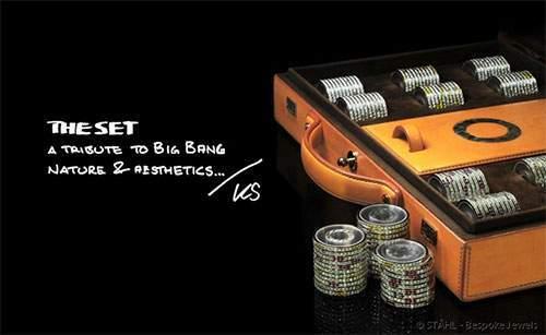 poker set meteorite